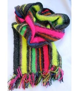Echarpe laine tricotée main MERIBEL