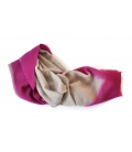 Echarpe laine DIPPED PINK