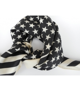 Bandana noir & blanc STARS & STRIPES