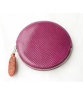 Round snakeskin purse PANDERETA