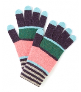 Colour Block stripe gloves SCHO