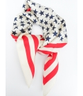 Square silk bandana STARS & STRIPES