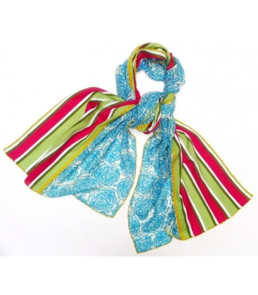 foulard Turqu and Stripes