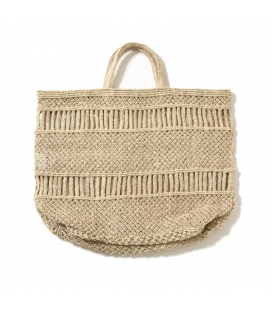 Grand Panier Jute naturel DOTS