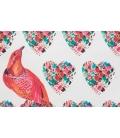 Pochette bicolore oiseaux & coeurs FONFIQUE