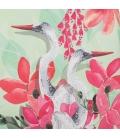 Pochette FONFIQUE oiseaux & Pompon rose