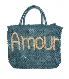 The Jacksons Panier jute bleue AMOUR