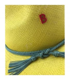 Chapeau panama Fedora jaune