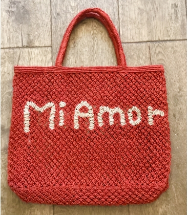 Panier jute the jacksons rouge MI AMOR