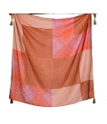 Foulard carre BLOCK rose