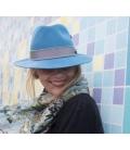 Chapeau feutre Bleu