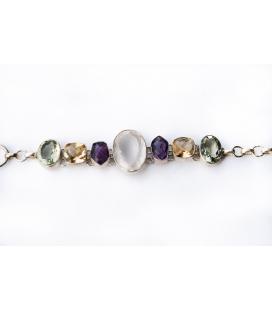Silver bracelet with semi-precious stones PRECIOUS MULTICO